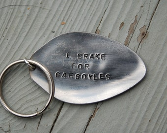 i brake for gargoyles key ring