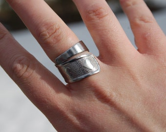 baby spoon heart ring