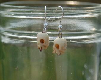 Tibetan skull earrings