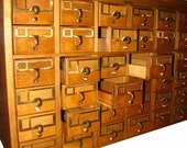 RESERVED FOR Mrs Young till Sat Vintage Wood 36 Drawer Card Catalog File - Industrial Library storage