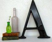 Vintage Large Letter A Architectural Salvage Letter Font Sign Wall Hanging Type