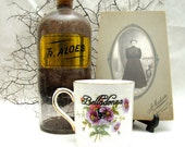Belladonna Poison Coffee or Tea Mug Vintage altered plate Chase and Scout English Bone China