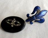 Vintage Jewelry Supplies Assemblage Lot Fleur de lis