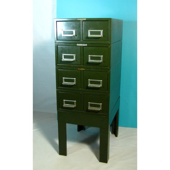Industrial Card Catalog File Cabinet By Chaseandscoutdesign
