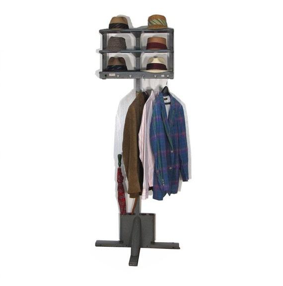 Industrial Coat Rack or Hall Tree Office Valet