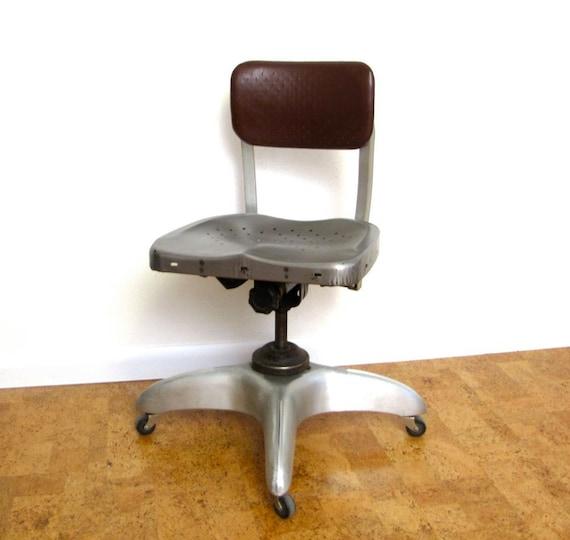 Vintage Industrial Desk Chair 1940s GoodForm General Fire Proofing