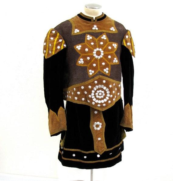Victorian Vintage Costume Knight from Odd Fellows Lodge Regalia Shakespeare Halloween 1890s