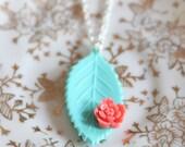 """Vintage Leaf Necklace... """"Warm Whispers"""""""