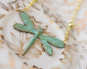 """Dragonfly Necklace... """"From Her Heart Did Fly"""""""