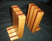 Book Ends --Maple and Purple Heart Wood --Make to Order