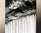 Black & White Abstract Canvas Art 18x24 Original Contemporary Modern Paintings by Destiny Womack - dWo - Fading Memories