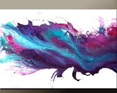 Abstract Canvas Art Painting 36x24 Original Purple & Blue Modern Contemporary Paintings by Destiny Womack - dWo - Made to Order