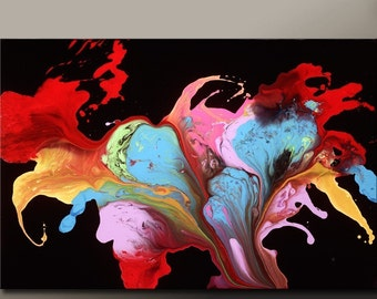Abstract Art Print Contemporary Abstract Canvas Art by Destiny Womack - BLISS - dWo