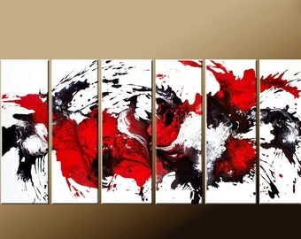 Abstract Art Paintings  - Huge Custom Made to Order Modern Fine Art Painting by Destiny Womack- dWo - GIANT 60x30