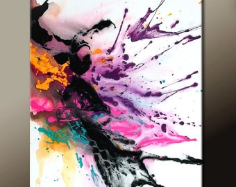Abstract Art Painting  Contemporary Modern Original Canvas Art Painting by Destiny Womack - dWo - MADE TO ORDER