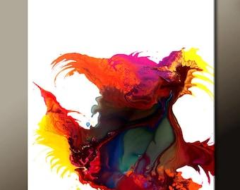 11x14 Abstract Art Prints -  Contemporary Wall Art Print by Destiny Womack  - dWo - Bird of Paradise