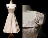vintage silk satin dress