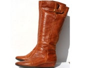 brown leather boots size 7.5