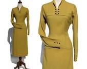 vintage 1960s fine wool dress