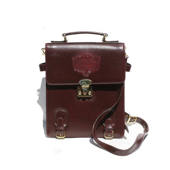 ysl crossbody replica - BELLE ROSE burgundy leather bag by TanakaVintage on Etsy