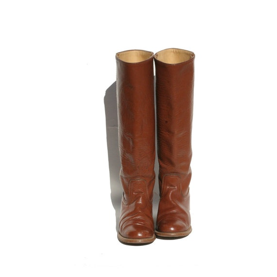 size 8 mocha brown leather riding boots