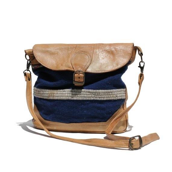Wool & Leather Shoulder or Cross Over Bag