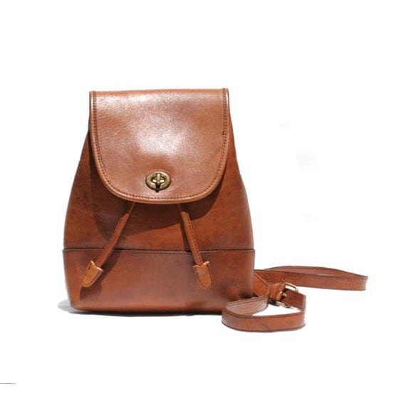 Mocha Brown Leather Backpack