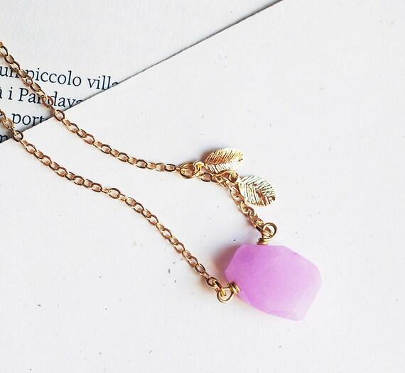 Lavender jade Necklace