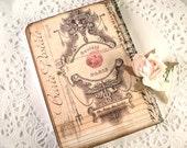 Tiny Parisian Journal Victorian  Dusty Rose Tiny Paris Journal Shabby Chic