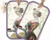 Paris Maiden Tag French Flair Parisian Tag Lovely French Print
