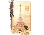 Paris Travel Journal, Paris Pocketbook Notebook, Parisian Journal, Little Something Gift, Notebook, Stocking Stuffer