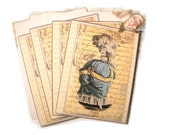 Paris Note Cards, Paris Gift Enclosure, Spyglass Marie Antoinette Style Parisian Gifts for Her by Dorothy Jane