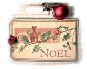Noel Christmas Tags, Christmas Gift Tags, Joy, Saint Nick, Chimney