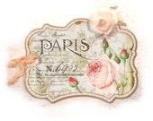 Pink Paris Tags, Paris Rose Tag, Pale Pink Parisian Redoute Rose, Gift Tag, Paris Pink, Shabby Chic, Soft Pale Pink - lacegrl130