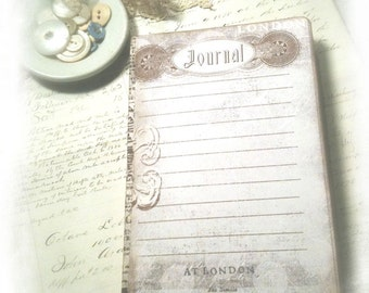 London Travel Journal, Travel Diary, Adventure in London, Notebook Jotter, Bronte Inspired Travel Journal