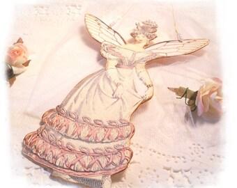 Jane Austen Fairy Pink Jane Austen Fantasy Ornament Hanging Tag, Teacher Gift, Bridal Shower Party Favor, Fairies, Pink Fantasy