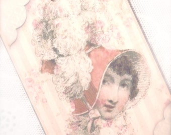Regency Jane Austen Gift Tag Three 19th Century Fashion Beauties  by Dorothy Jane