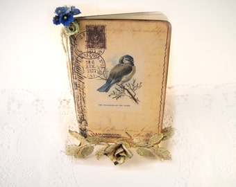 Blue Bird Journal, Nature Journal, Travel Journal. Bird Watcher Diary,  Nature Butterfly Nest Journal, Art Journal, Dragonfly Bird Nests