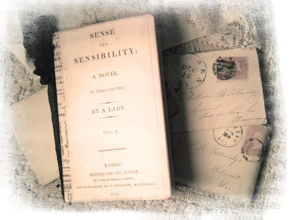 Jane Austen Journal,  Sense & Sensibility, Journal, Stocking Stuffer, Gifts for Her, Regency Fashion