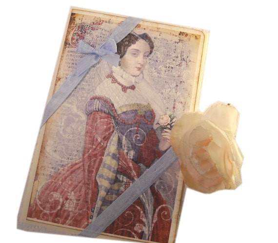 Renaissance Greeting Card, Medieval Queen Card,  Mary Queen of Scots English History Card