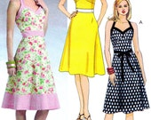 OOP Sewing Pattern McCall's 4868 Halter Neck Dress with A-line Skirt and Fitted Bodice Sizes 4-10 Bust 29 1/2-32 1/2 FF