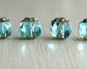 25 Light Blue Czech Renaissance Beads 6mm
