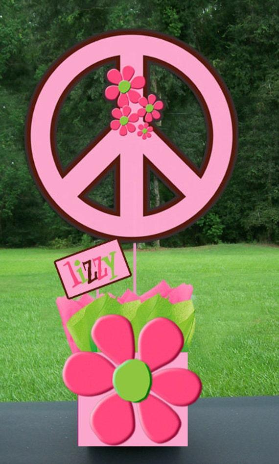 Items similar to hippy hippie chic girl peace party - Decoracion hippie ...