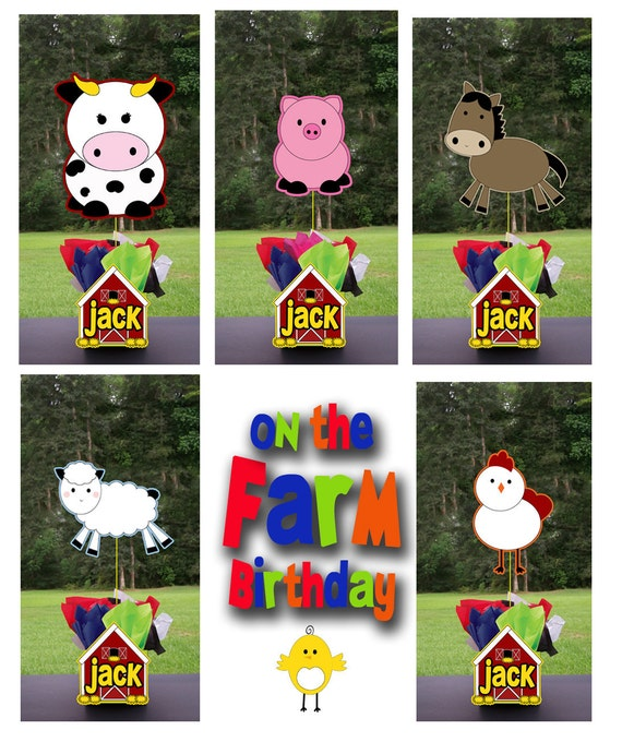 Farm Animals Red Barn Party Centerpiece 3 Feet Tall And Favors