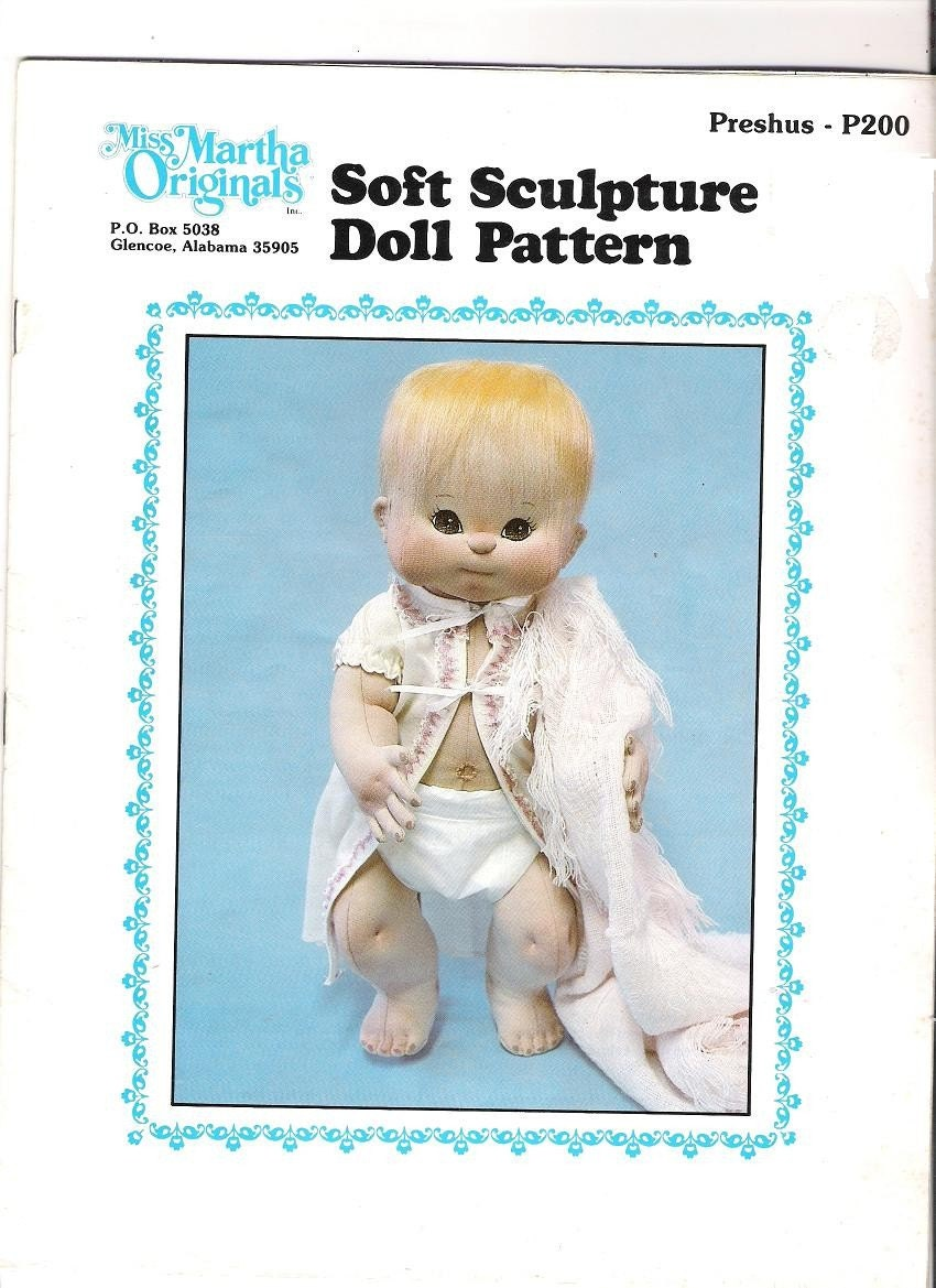 Preshus By Miss Martha Soft Sculpture Doll Pattern