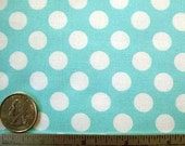 Michael Miller TA DOT OCEAN Aqua Polka Dot Quilt Fabric by the Yard, Half Yard, or Fat Quarter Fq