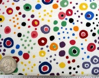 Alexander Henry OAXACA DOT NATURAL Cream Los Novios Coordinate Quilt Fabric - Out of Print
