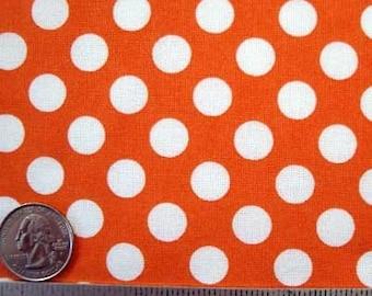 Michael Miller TA DOT TANGERINE Polka Dot Quilt Fabric Fat Quarter Fq - Last Piece