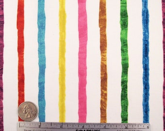 "Eric Carle ""The Very Hungry Caterpillar"" RAINBOW STRIPES Quilt Fabric - Fq Fat Quarter 18"" x 22"" Rare Out of Print"