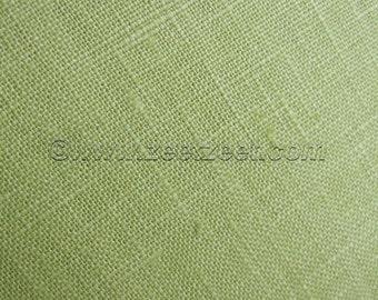 "100% Belgian Linen Celery Green Extra Wide 52/54""  Fabric - 1 Yard"